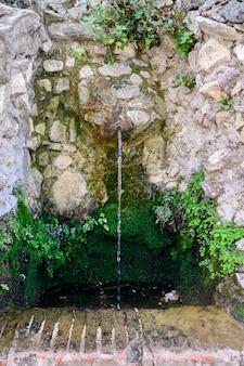 Fontaine à boire dans le forum romain. italie, rome.