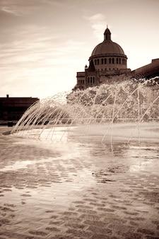 Fontaine à boston, massachusetts, usa