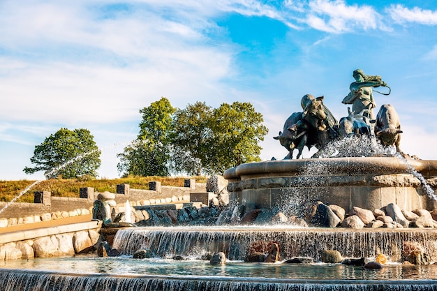 La fontaine gefion à copenhague, danemark