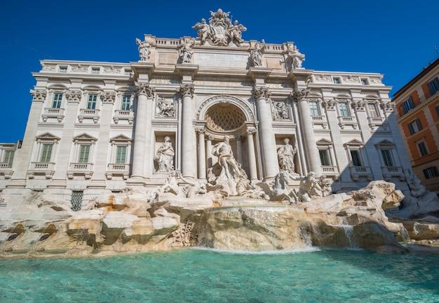 Fontaine de trevi à rome, italie