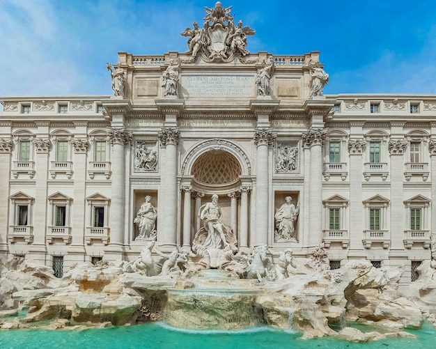Fontaine de trevi à rome, italie.