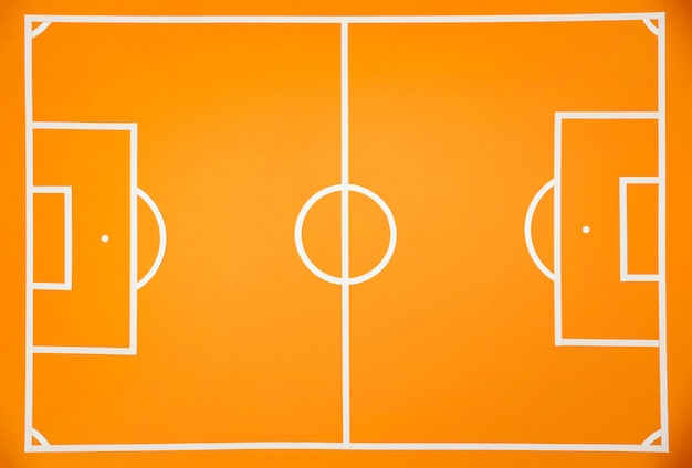 Football à plat sur terrain encore la vie