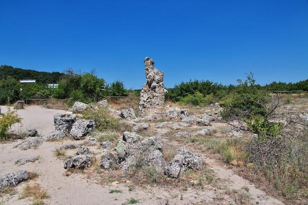 Forêt de pierre, pobiti kamani à varan, bulgarie