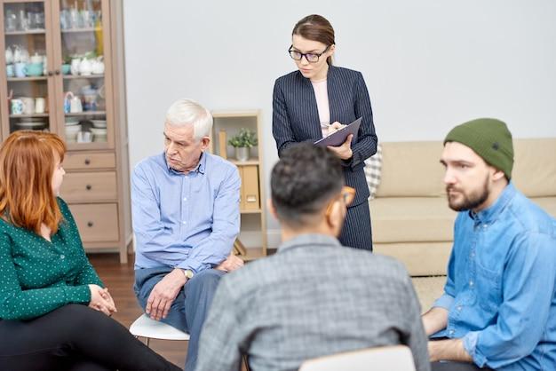 Formation des compétences sociales au bureau de psychothérapie
