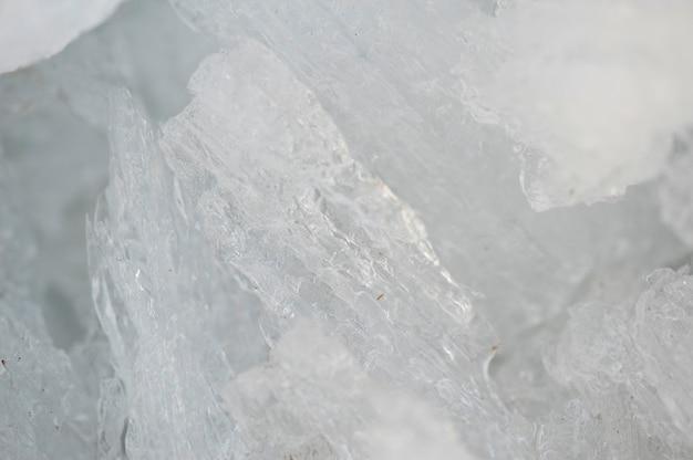 Formation de glace sur le lac winnipeg à gimli, manitoba, canada