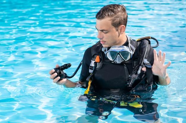 Formation de l'homme avant la plongée sous-marine
