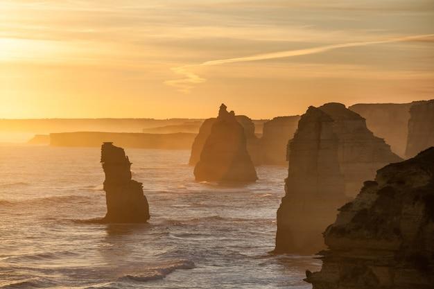 Formations rocheuses des douze apôtres, australie