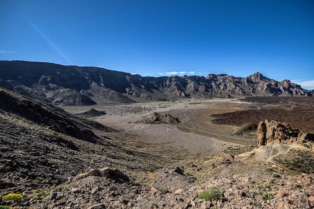 Formations rocheuses faites de lave voolcanique. parc national du teide. tenerife, îles canaries