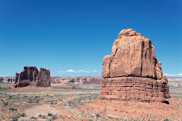 Formations rocheuses, situées dans le parc national des arches à moab, utah