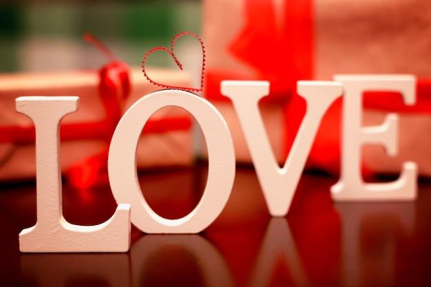 Forme d'amour de la saint-valentin