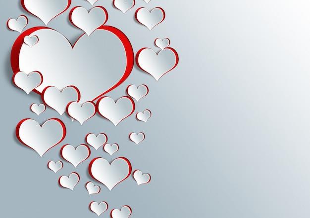 Forme de coeur sur papier craft