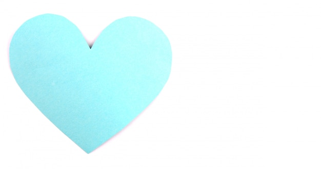 En forme de cœur sur la saint valentin et fond blanc.