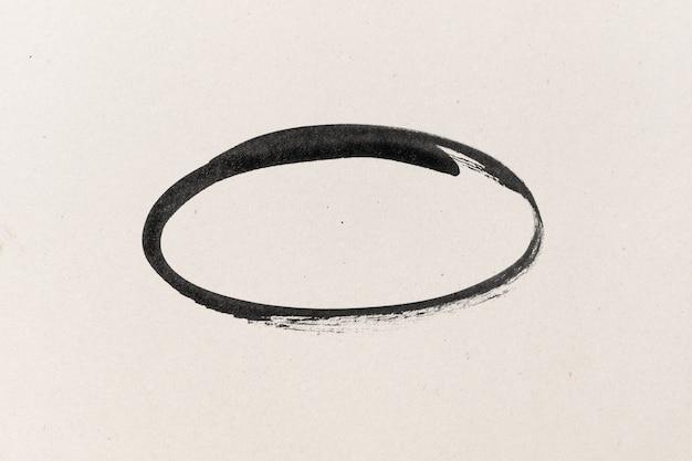 Forme d'encre noire sur fond texturé papier aquarelle