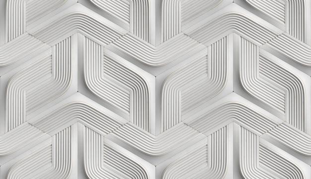 Forme de géométrie douce de carreaux 3d en cuir noir avec rayures et losanges dorés