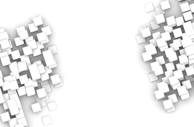 Forme géométrique abstraite de cubes blancs