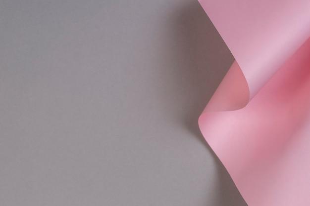 Forme géométrique abstraite fond de papier de couleur rose pastel et gris