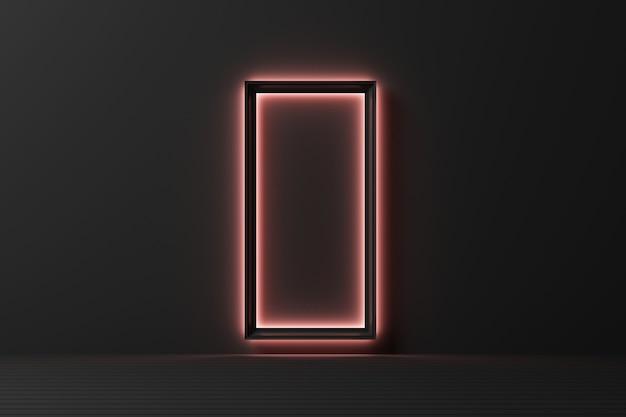 Forme géométrique abstraite modèle de couleur pastel fond de mur de style moderne minimal avec éclairage grandir le rendu 3d