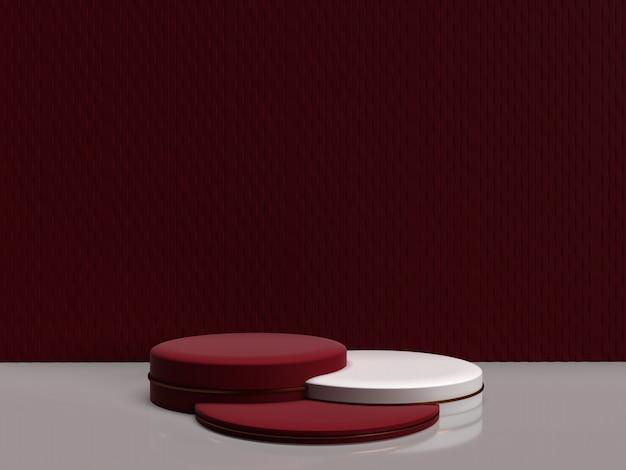 Forme géométrique abstraite de rendu 3d minimaliste pour les produits