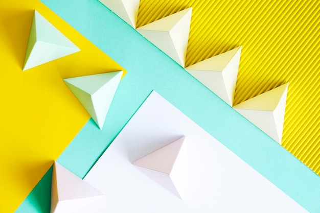 Forme géométrique du papier vue de dessus