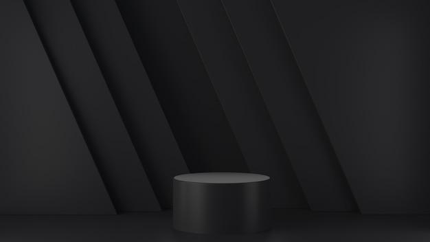 Forme géométrique de mise en page de scène de fond abstrait du podium pour des démonstrations de produits 3d