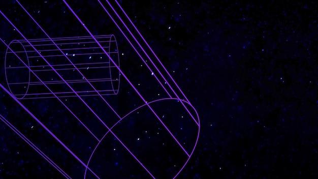 Forme géométrique avec des particules dans l'espace, abstrait. style géométrique dynamique élégant et luxueux pour les entreprises, illustration 3d
