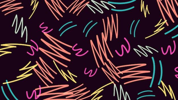 Forme géométrique rétro, abstrait. illustration 3d géométrique dynamique élégante et luxueuse des années 80 et 90 de style memphis