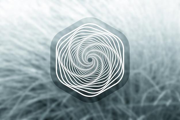 Forme hexagonale relaxante sacrée