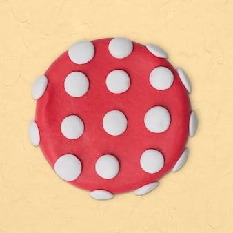 Forme pointillée de cercle d'argile dans l'art créatif fait main rose