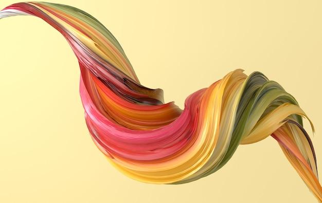 La forme torsadée abstraite dynamique colorée rend la spirale de vawe