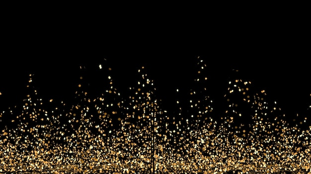 Formes abstraites avec des paillettes dorées