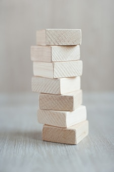 Formes de blocs de construction en bois