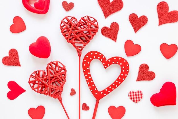 Formes de coeur pour la saint valentin