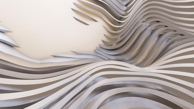 Formes courbes abstraites. fond circulaire blanc. abstrait. illustration 3d