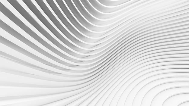 Formes courbes abstraites. fond circulaire blanc. fond abstrait. illustration 3d