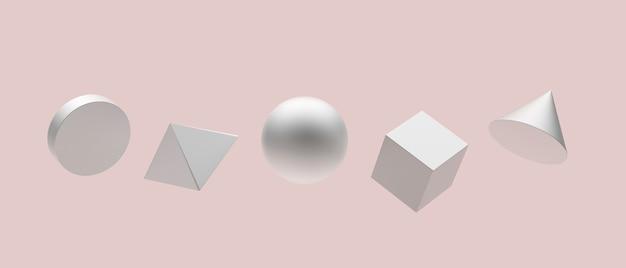 Formes géométriques argentées