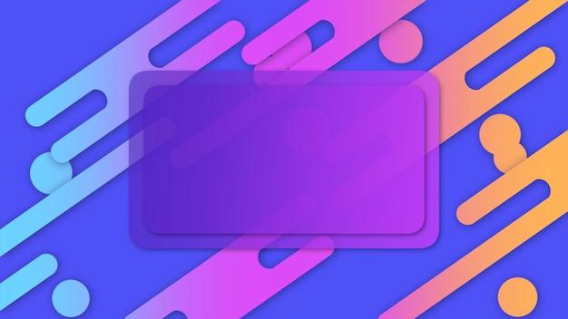 Formes géométriques minimales et modernes pour le texte, fond abstrait. style dynamique élégant et luxueux pour modèle d'entreprise et d'entreprise, illustration 3d