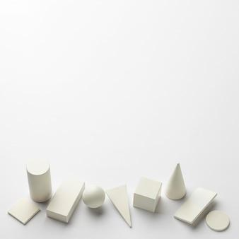 Formes géométriques minimalistes avec espace de copie