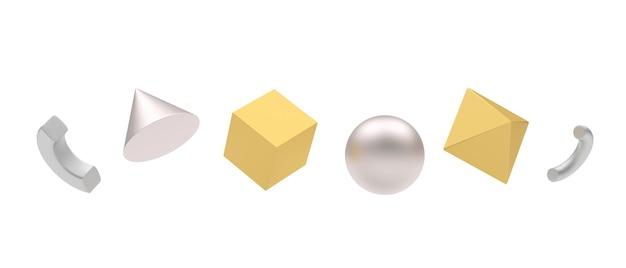 Formes géométriques or et argent