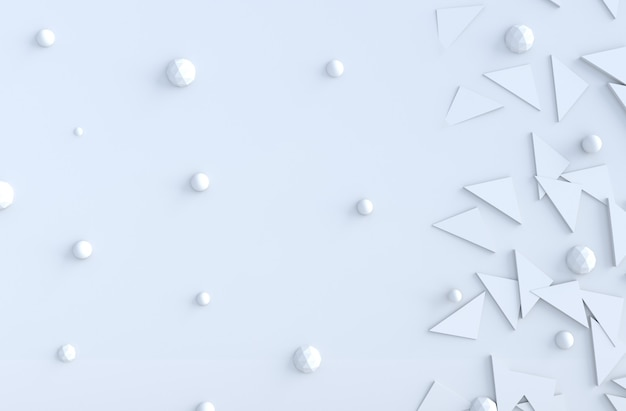 Formes géométriques triangulaires et polygonales blanches et copie espace arrière-plan