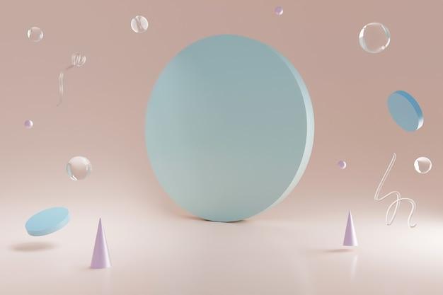 Formes géométriques en verre néon 3d