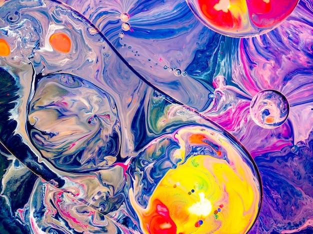 Formes de marbre colorées abstraites pour des conceptions créatives