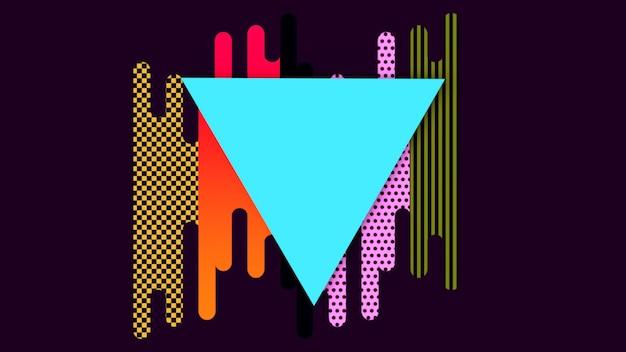 Formes et triangles géométriques minimales et modernes, abstrait. style dynamique élégant et luxueux pour modèle d'entreprise et d'entreprise, illustration 3d