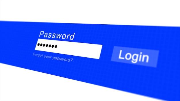 Formulaire de connexion ou de connexion avec les champs nom d'utilisateur et mot de passe