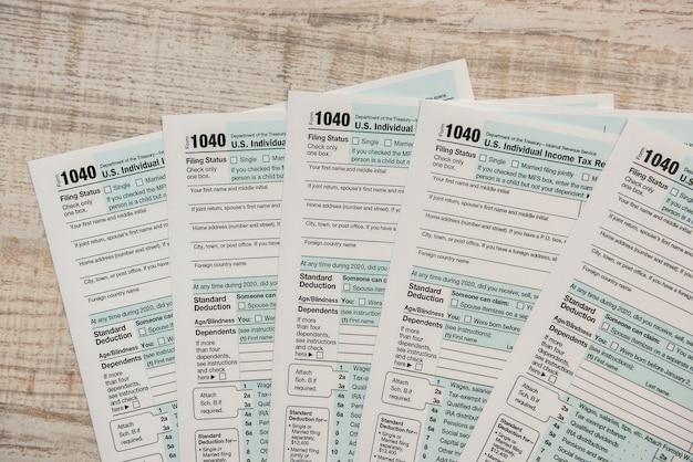 Formulaire de déclaration de revenus des particuliers us 1040 2020 2021