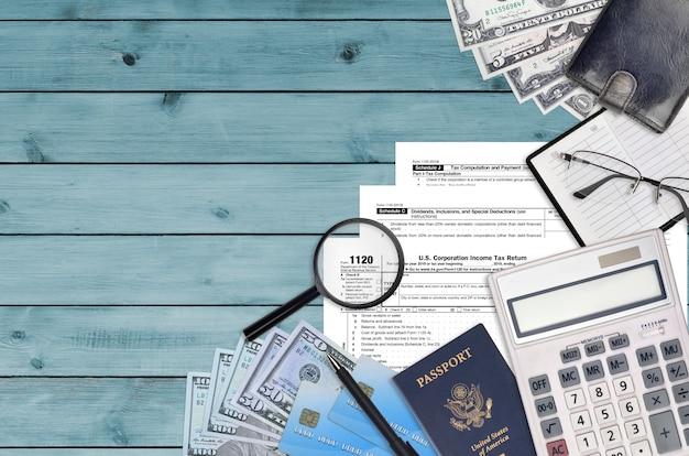 Formulaire irs 1120 déclaration de revenus des sociétés américaines
