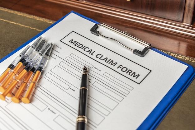 Formulaire de réclamation pour faute professionnelle médicale pour les avocats. calcul de l'indemnité