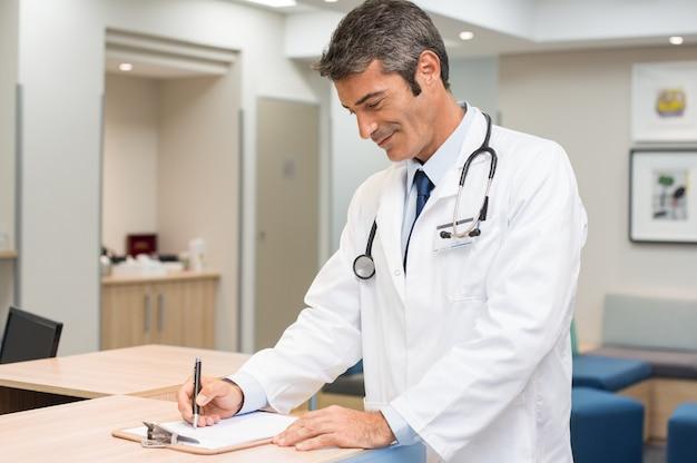 Formulaire de signature du médecin