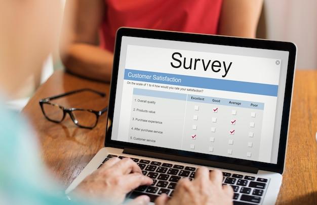 Formulaire de sondage en ligne de satisfaction client