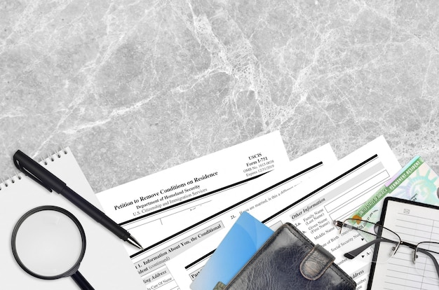 Formulaire uscis i-751 pétition pour supprimer les conditions de résidence