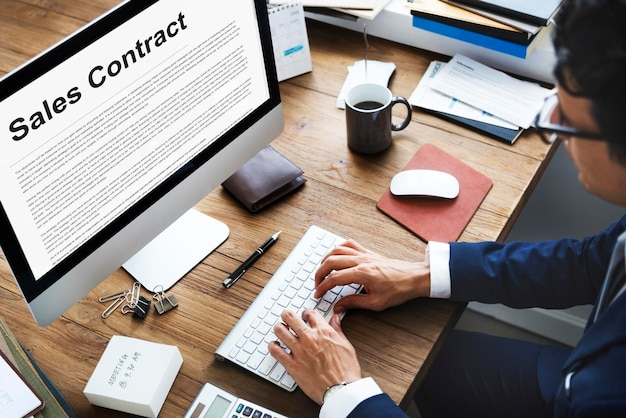 Formulaires de contrat de vente documents concept juridique